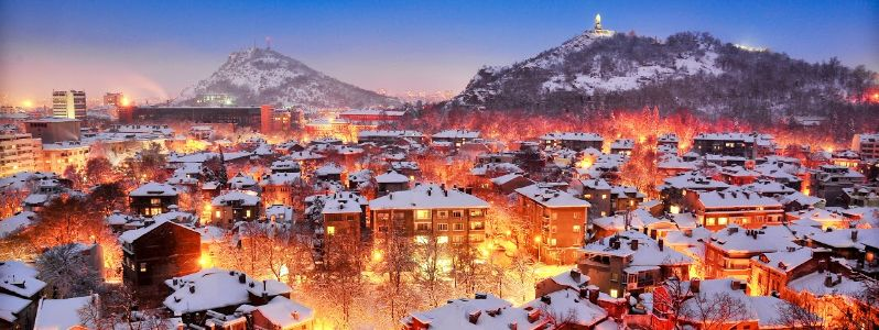 Amazing view over the hills of Plovdiv